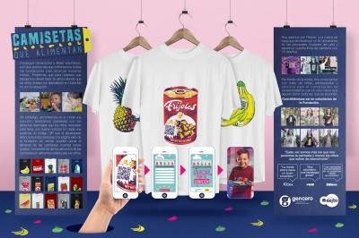 Camisetas que alimentan